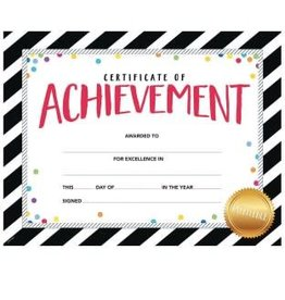 Bold & Bright Certificate of Achievement Lg. Award