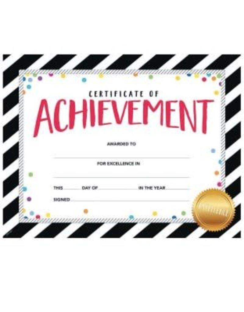 Bold & Bright Certificate of Achievement Lg. Award