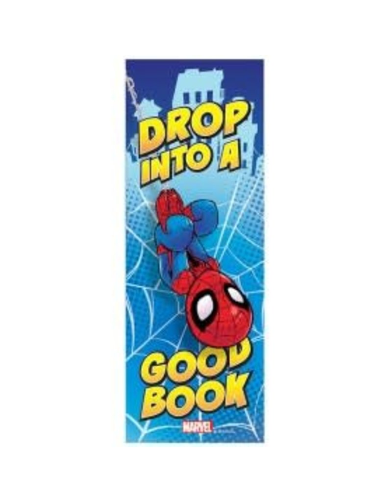 Spiderman Drop Into A Good Book Bookmark