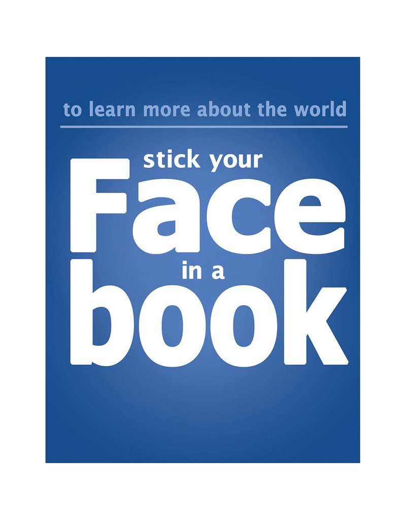 Put Face in Book Poster