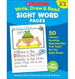 Write, Draw and Read Sight Word Pages Book