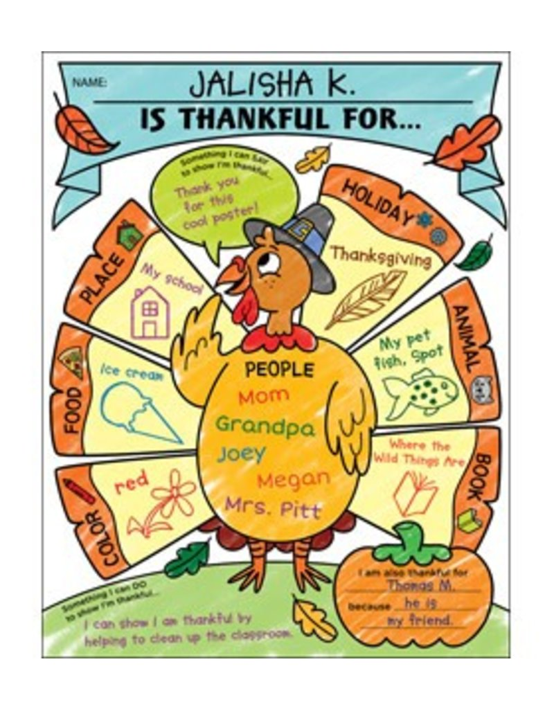 I am Thankful Fill-in Posters k-2