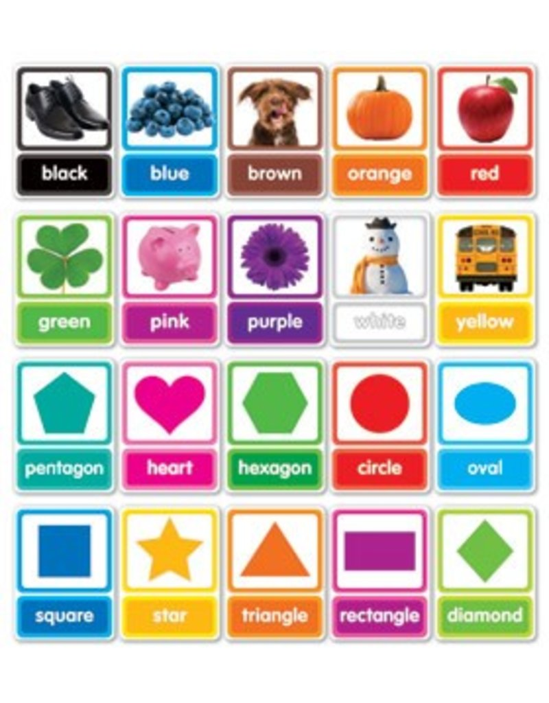 Colors and Shapes in Photos Bulletin Board Set