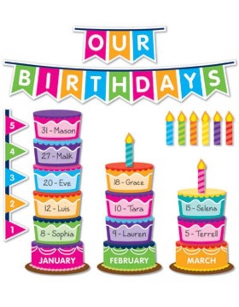 class birthday graph bulletin board set