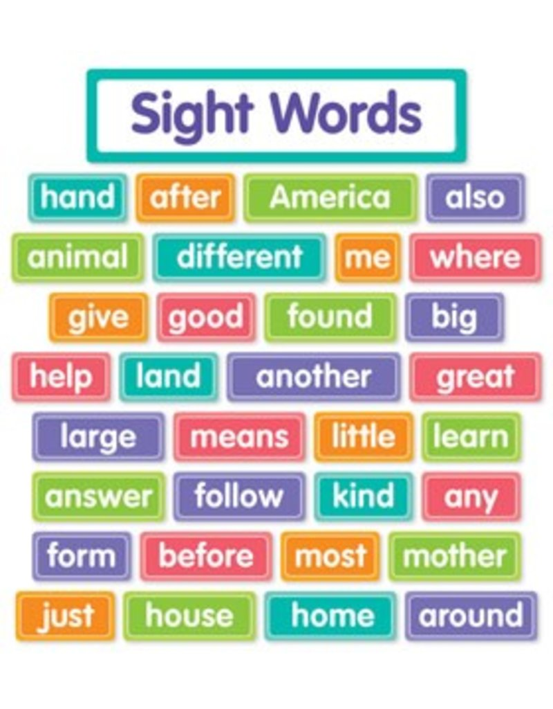 More Sight Words Bulletin Board Set