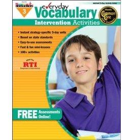 *Everyday Vocabulary Intervention Activities (Grade 3)