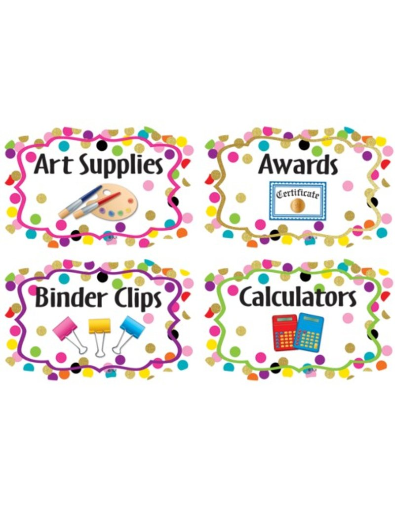 Confetti Supply Labels