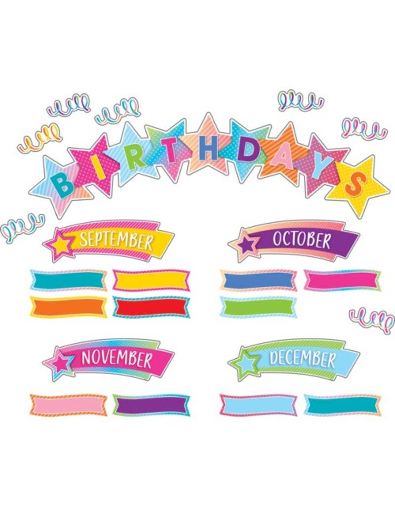 Colorful Vibes Birthday Mini Bulletin Board