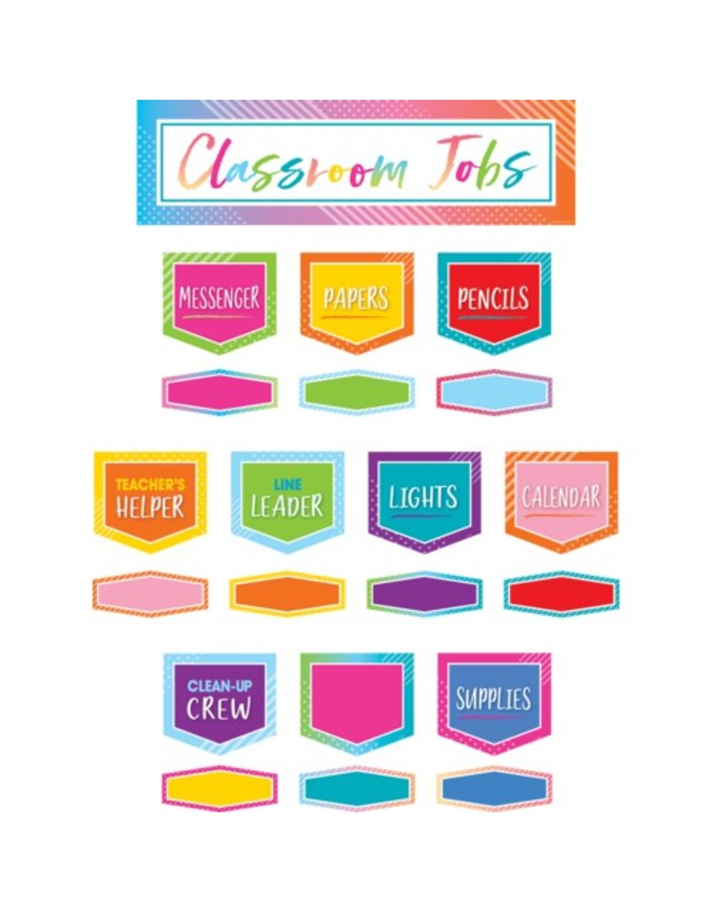 Colorful Vibes Classroom Jobs Mini Bulletin Board