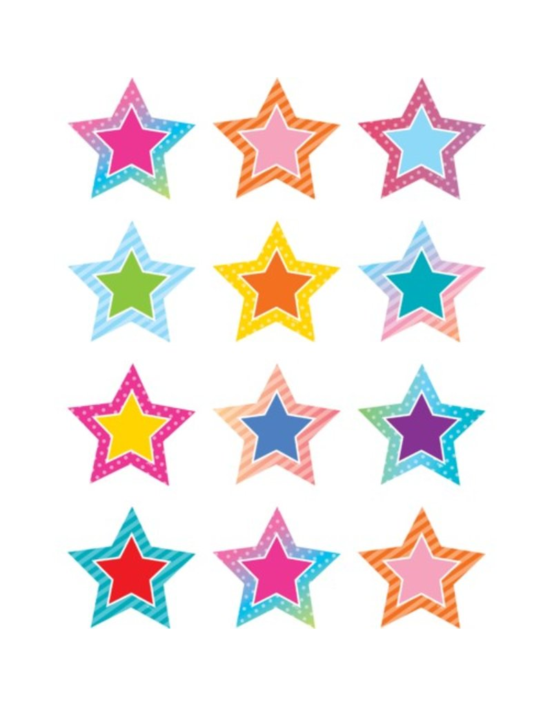 *Colorful Vibes Stars Mini Accents