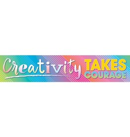 *Colorful Vibes Creativity Takes Courage Banner