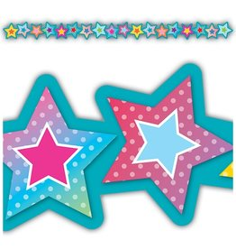 Colorful Vibes Star Die-Cut Border