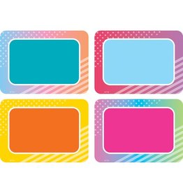 Colorful Vibes Name Tags/labels Multi Pack