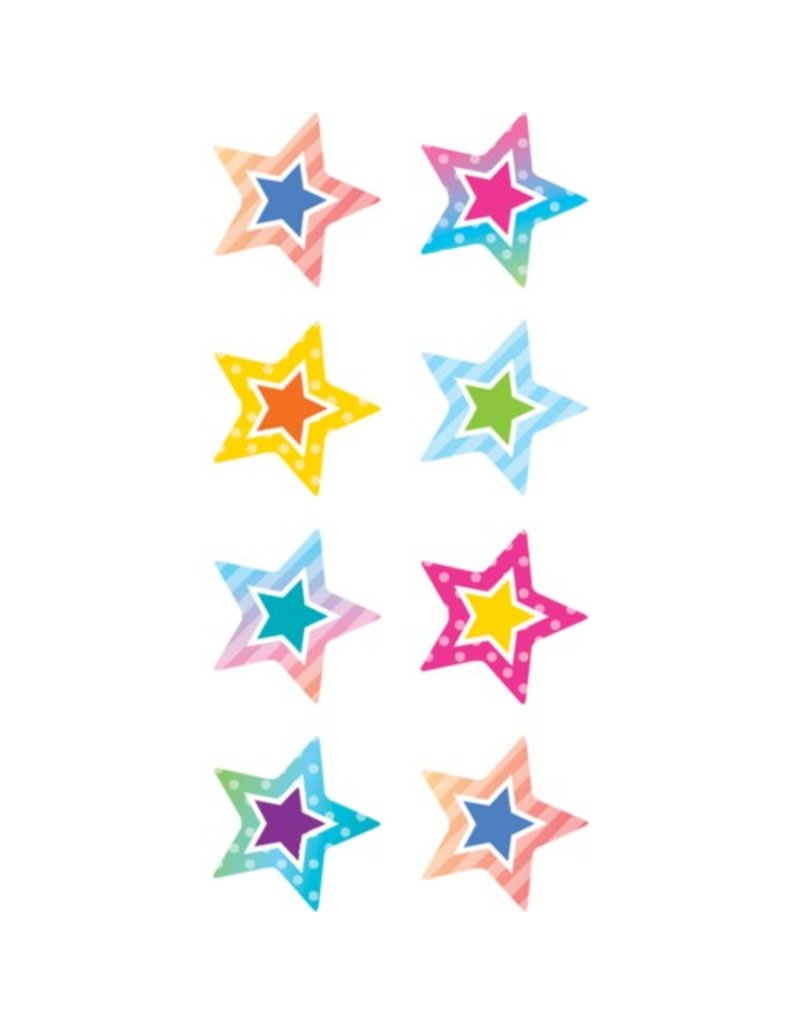 Colorful vibes Star Mini Stickers