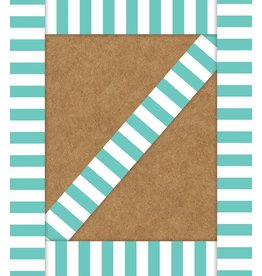 Simply Stylish Turquoise Straight Border