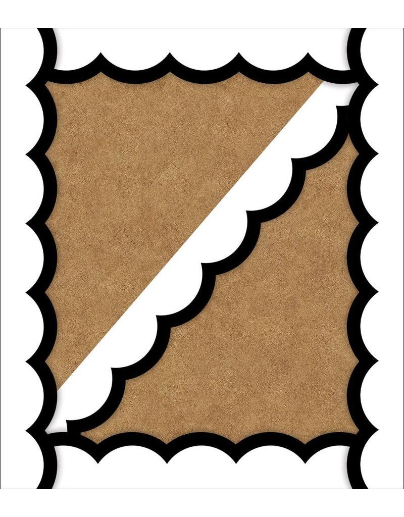 Simply Stylish Black and White Wavy Line Border