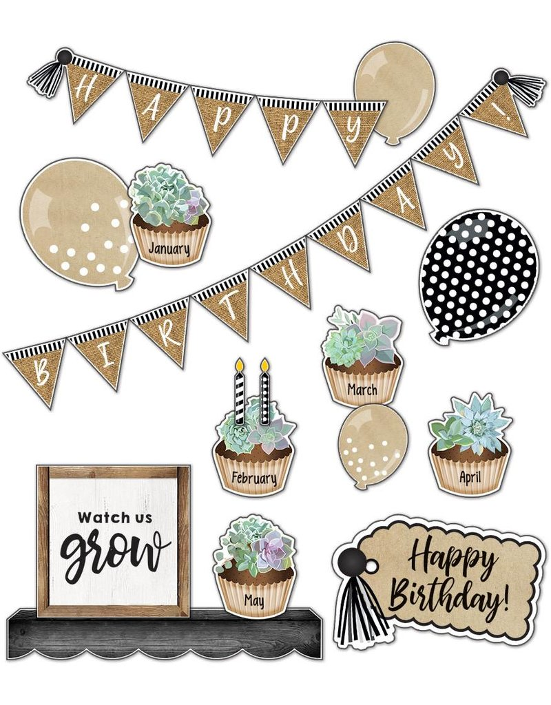 Simply Stylish Birthday Bulletin Board