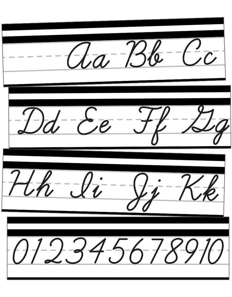 Simply Stylish Alphabet Line: Cursive Mini Bulletin Board