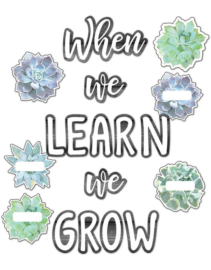Simply Stylish We Learn We Grow Bulletin Board Set
