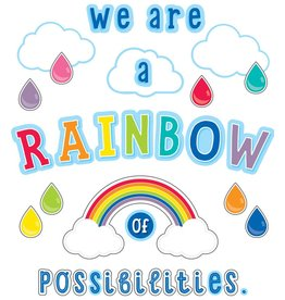 Hello Sunshine We Are a Rainbow of Possibilities Bulletin Board