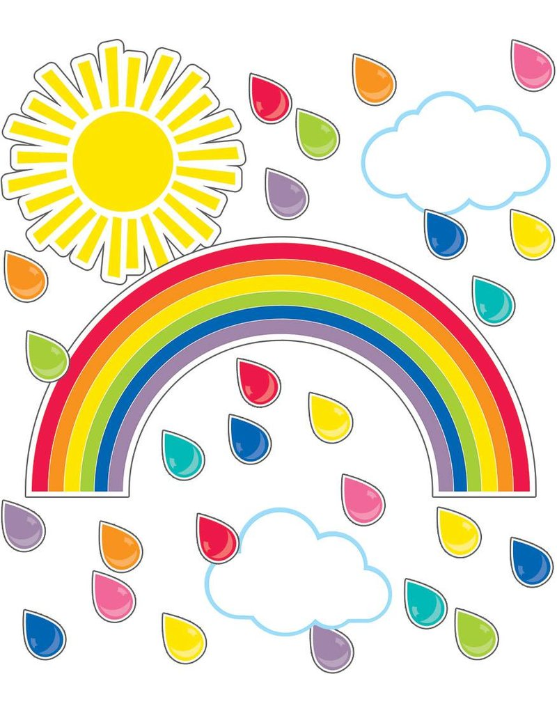 Hello Sunshine Giant Rainbow Bulletin Board Set