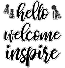 Simply Stylish Script Words: Hello Bulletin Board