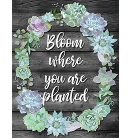Simply Stylish Bloom Where You are Planted Poster