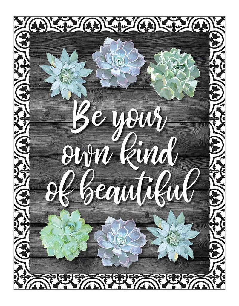 Simply Stylish Be Your Own Kind of Beautiful Poster