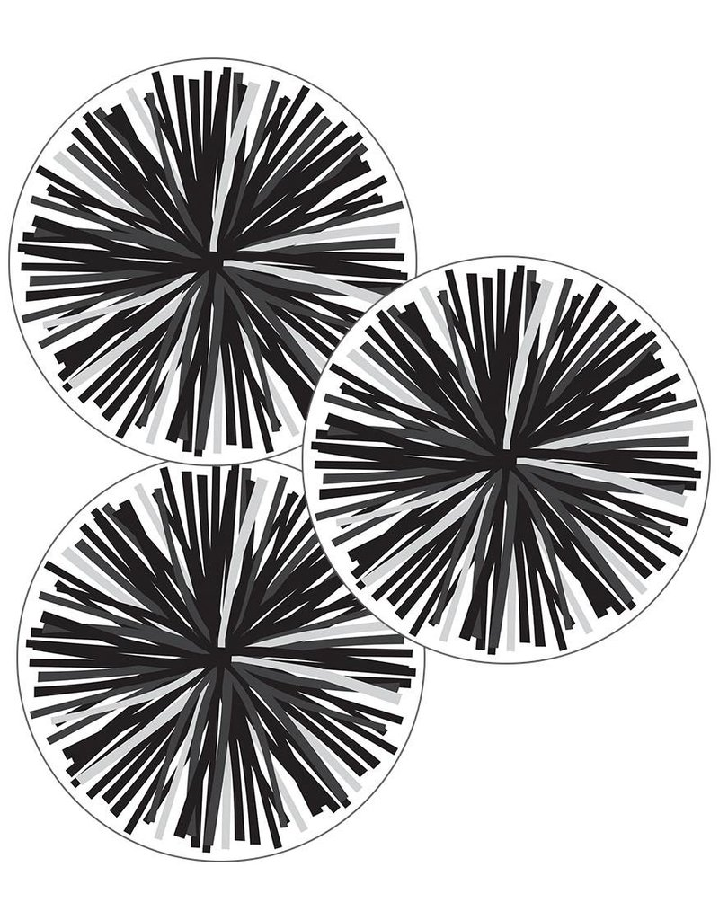 Simply Stylish Black and White Poms