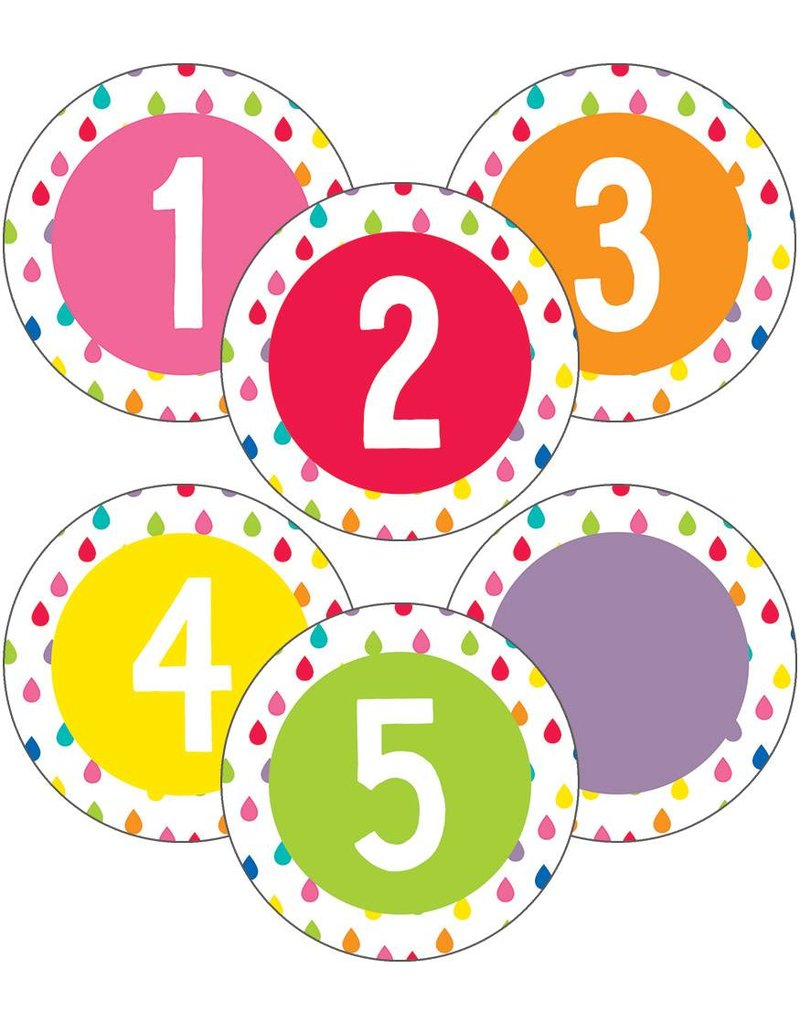 Hello Sunshine Student Numbers Mini Colorful cut-Outs Assorted Designs