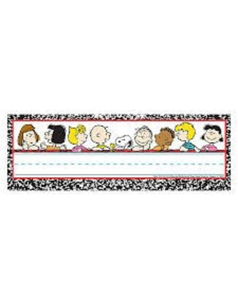 Peanuts Composition Nameplate