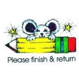 Please Finish & Return Stamp