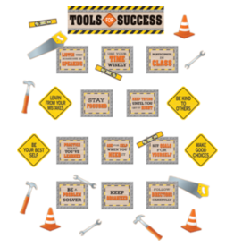 Under Construction Tools for Success Mini Bulletin Board