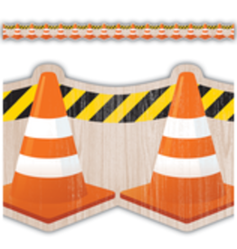 Under Construction Cones Die-Cut Border