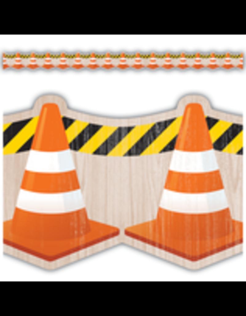 Under Construction Cones Die-Cut Border