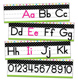 Tropical Alphabet Line: Manuscript Mini Bulletin Board