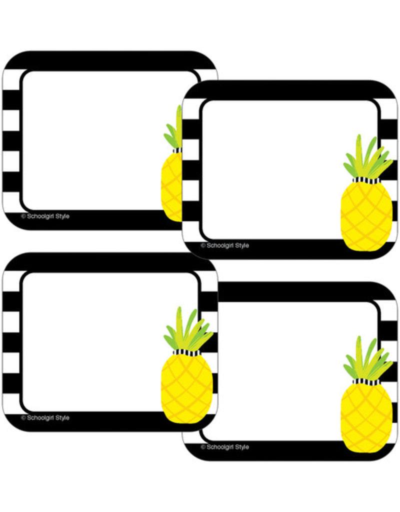 Pineapple Stripe Name Tags