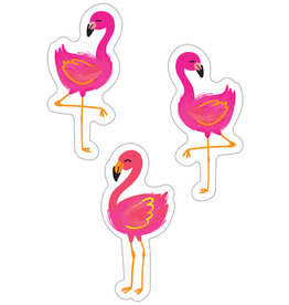 Flamingos Colorful Cut-Outs - Assorted