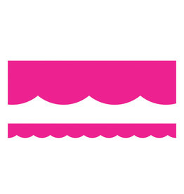 Hot Pink Scalloped Borders