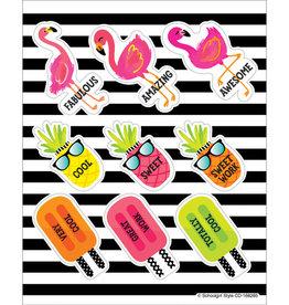 Tropical Motivators Shape Stickers