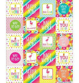 Motivators Shape Stickers Simply Stylish Tropical