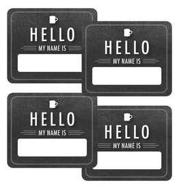 Chalkboard Hello Name Tags