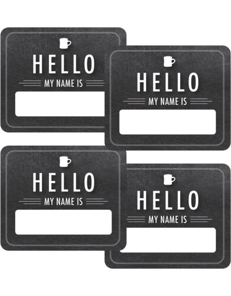 Chalkboard Hello Name Tags
