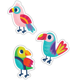 Parrots Colorful Cut-Outs - Assorted