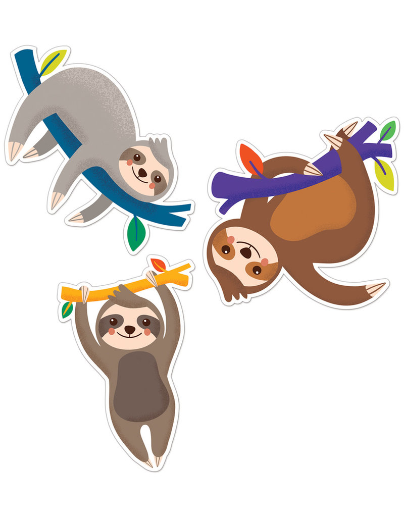Sloths Colorful Cut-Outs - Assorted