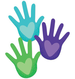 Hands with Hearts Colorful Cut-Outs - Assorted