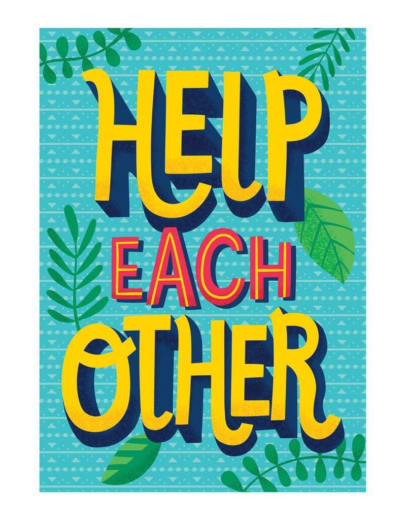 Help Each Other Motivational Poster - One World