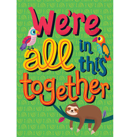 We're All in This Together Motivational Poster - One World