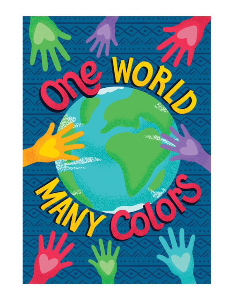 One World Many Colors Motivational Poster