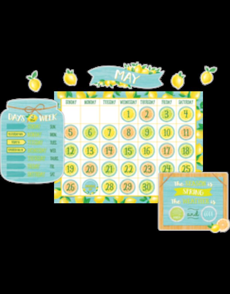 Lemon Zest Calendar Bulletin Board